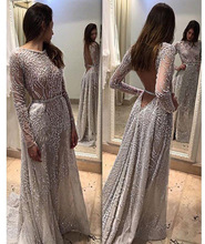 Sheer mesh Sequined sexy club round neck long sleeve summer maxi dress women backless elegant party long dresses 2019 new arriva цена