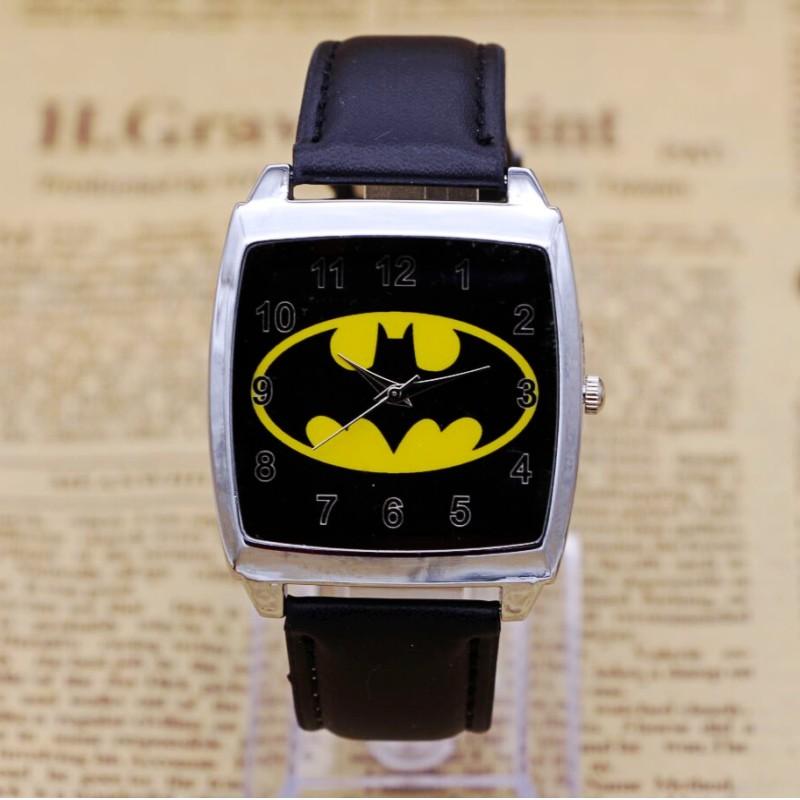 New Batman Design Fashion women dress Analog Wrist quartz Watch Unisex watches women casual watch Children Watch