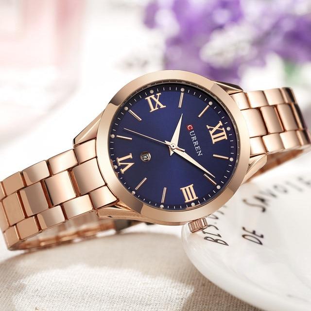 Curren Watches Luxury Women Full Steel Quartz Watch Fashion Casual Ladies Dress elegance clock Wristwatch relogio feminino 9007