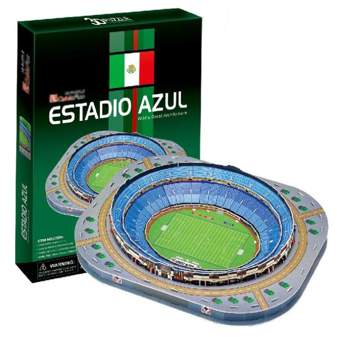 T0474 3D Puzzles ESTADIO AZUL Mexico Azul Golf Course DIY Paper Model Creative gift Children Educational toys hot sale