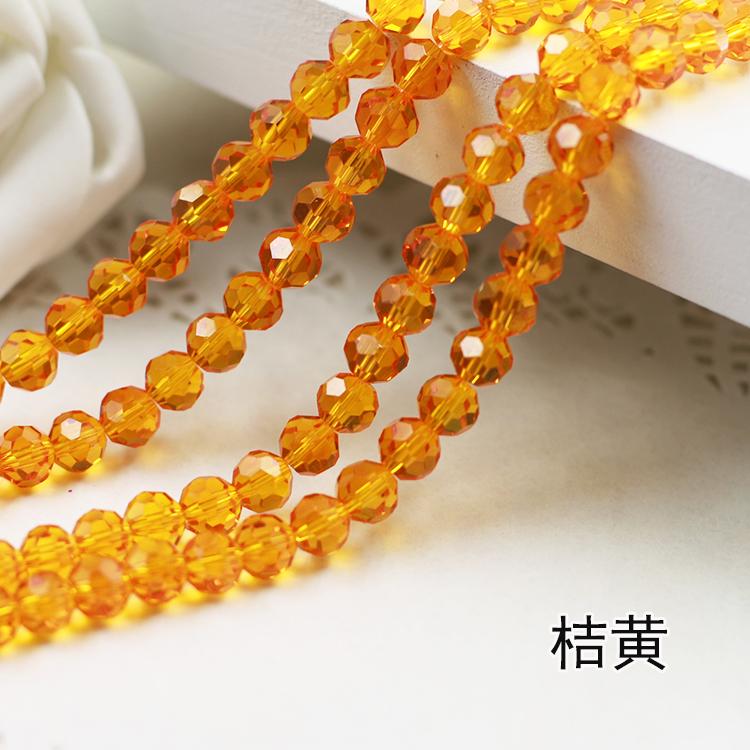 Wholesale~ Topaz Color 5000# Crystal Glass Beads Loose Round Stones Spacer for Jewelry Garment.4mm 6mm 8mm 10mm wholesale amber color 5000 crystal glass beads loose round stones spacer for jewelry garment 4mm 6mm 8mm 10mm