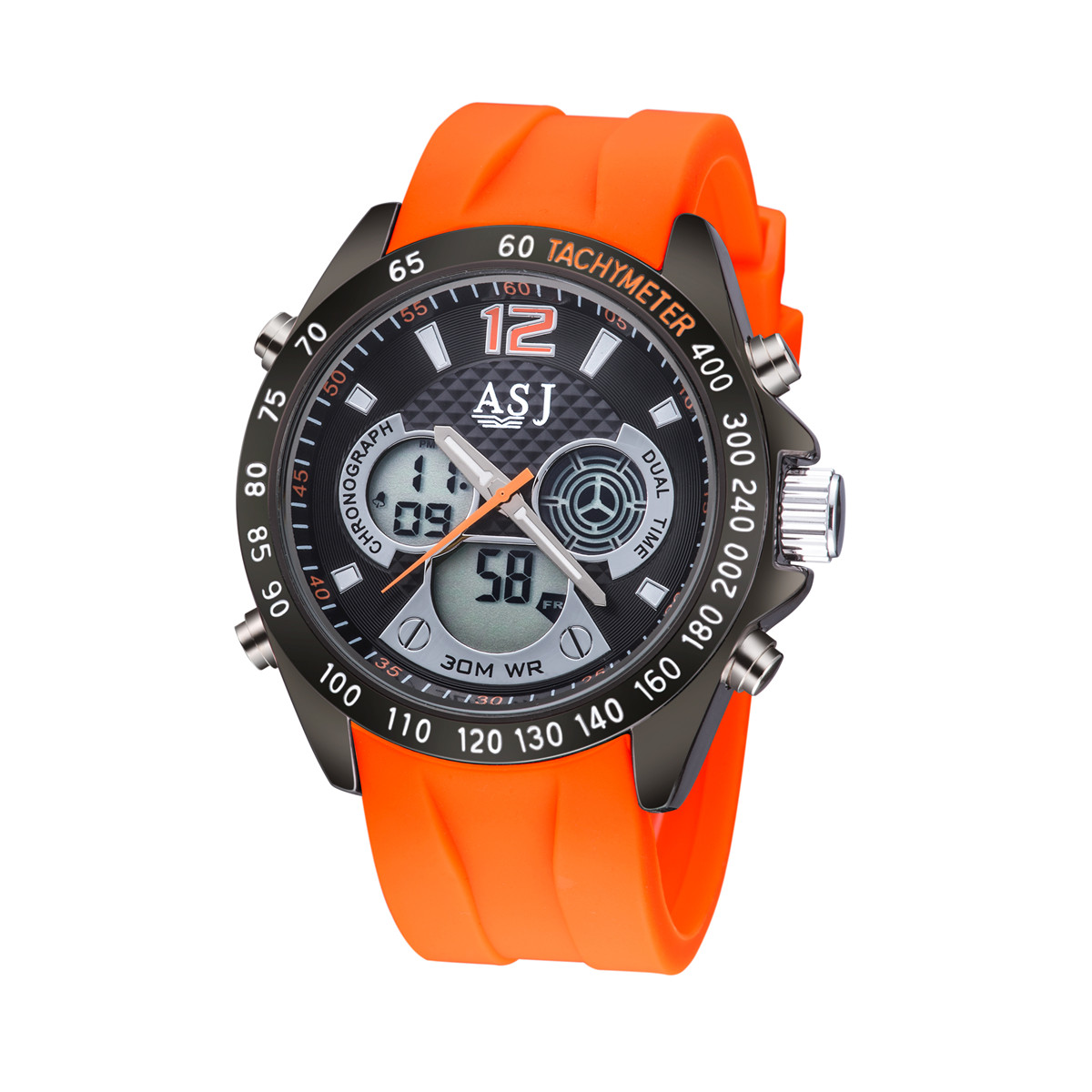 Orange Color Silicone Band 2016 Brand Luxury Casual Watches Mens Watch For Men Clock Sport Military Army Wristwatch Waterproof