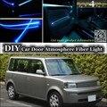 Para TOYOTA bB Para Daihatsu Coo Afinação de Luz Ambiente interior Atmosfera Luzes Faixa de Fibra Óptica Porta Interior Do Painel de iluminação