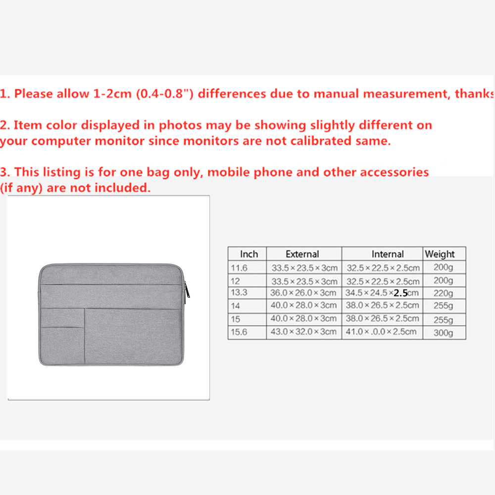 "Image 5 - Bag Case for funda macbook air 13 11 12 15 15.6"" Laptop Bag Men Notebook Computer Male Simple Office Business Bag for Dell HP-in Laptop Bags & Cases from Computer & Office"