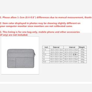 """Image 5 - バッグケース funda ための macbook air 13 11 12 15 15.6 """"ラップトップバッグ男性ノートブックコンピュータ男性シンプルなオフィスビジネスデル HP"""
