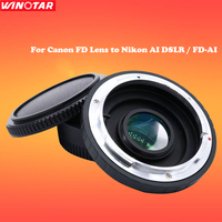 Camera Lens Mount Adapter with Optical Glass for CANON FD Lens to NIKON AI DSLR Body Mount Adapter Infinity Focus FD AI