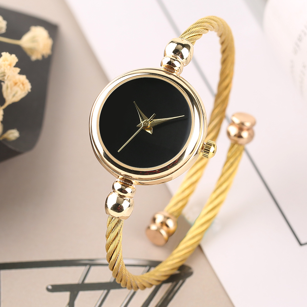 Luxury Ladies Bangle Watches for Women Gold Bracelet Watch Fashion Minimalist Quartz Clock Reloj Mujer