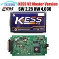 Excelente A + Versão V2.30 Mestre KESS V2 OBD2 Gerente Sintonia Estável Kits HW V4.036 Funciona Carro Multi-Língua Função OBD KESS