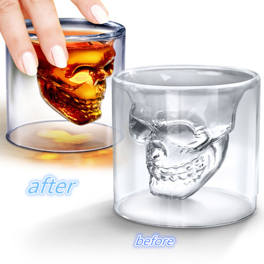 High End Crystal Wine Glasses Us 11 1 Hot Sale Special Style Crystal Glass Crystal Skull Cup Of Tea Liquor High End Red Wine Cup Creative Shot Glass Skull Head Cup On