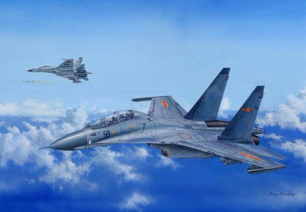 ФОТО HobbyBoss 81714 1/48 Russian Su-30MKK Flanker G Military Pattern Fighter Model