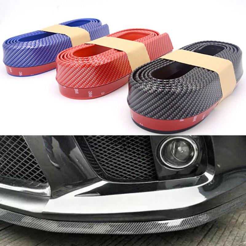 2.5M auto bumper carbon fiber Rubber protection Anti collision car strips For Passat B6 B7 CC Golf Jetta MK5 MK6 Tiguan