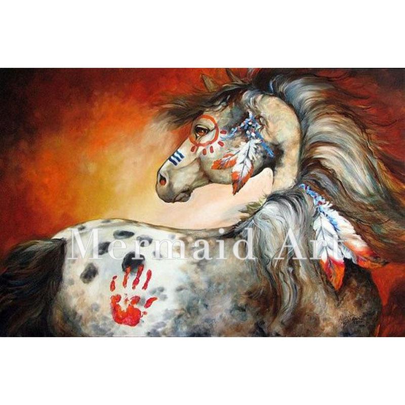Populaire De haute qualité fait à la main peinture à l'huile peinture Indien  PT74