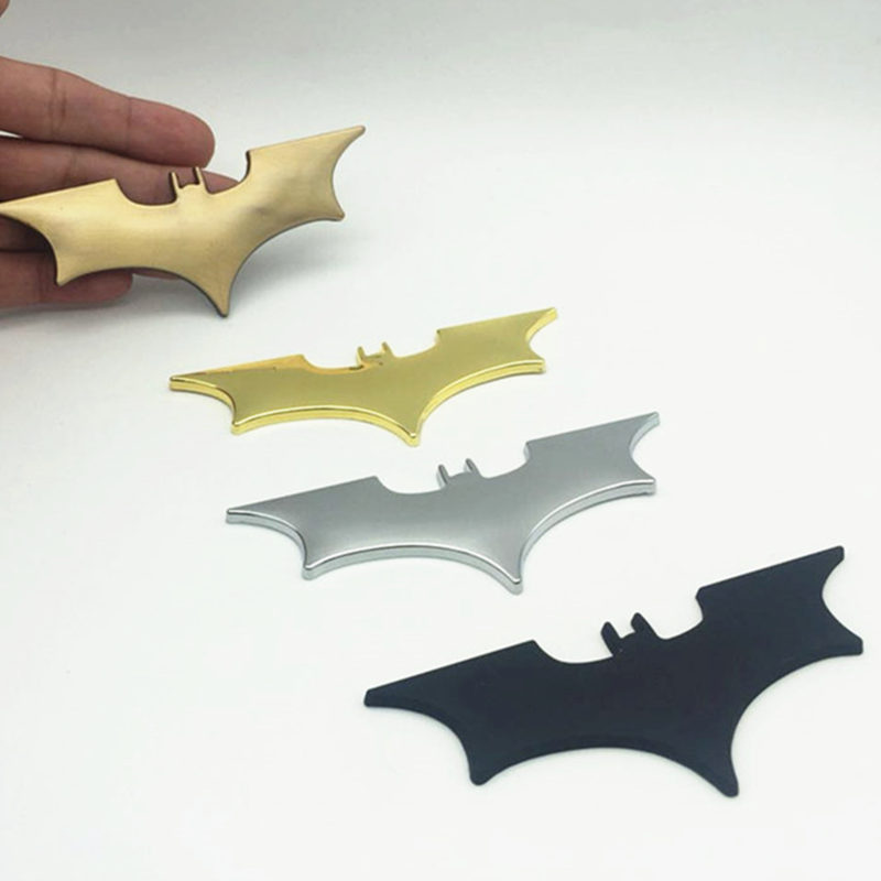 CDIY 105mmx42mm 3D Metal Bats Car stickers metal car logo badge Last Batman decals motorcycle Styling Car-Styling