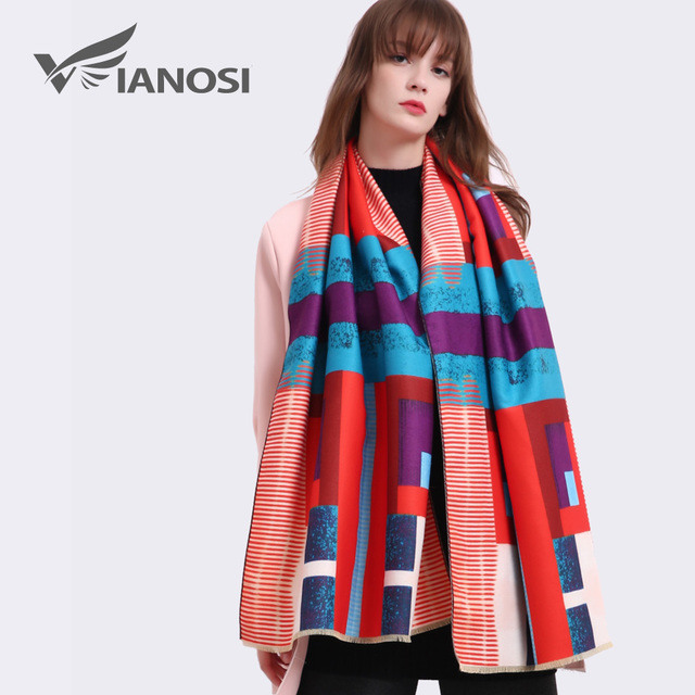 VIANOSI Cashmere Scarf Women 11 Styles Brand Thicken Woman Foulard Wool Bufandas Warm Bandana Winter Shawls and Scarves