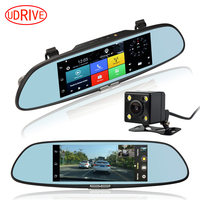 7 Inch 3G WiFi Mirror GPS DVR FHD 1080P Bluetooth Phone Dual Lens Automobile Video Recorder