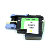 YOTAT 1 pcs Yellow C4953A Remanufactured Printhead for HP81 Designjet 5000 5000ps 5500 5500ps printer head for HP 81