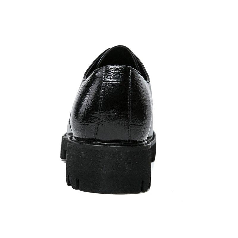 Luxo Homens Festa Preto Dos De Formal Oxfords Vestido Couro Preto marrom Ramialali Casamento Escritório Flats Microfibra Lace Business Marrom Sapatos Up B7CnUw