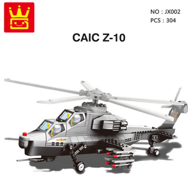 Wange Army Military Early warning aircraft WZ 10 GUNSHIP HELICOPTER The US V 22 OSPREY TILTRTOR model bricks compatible in Blocks from Toys Hobbies