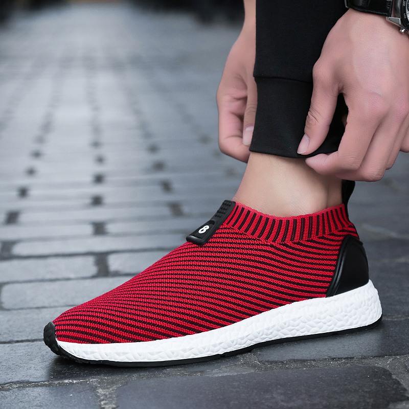 Spring new fly line weave shoes coconut shoes breathable mens casual comfort shoes Zapatos casuales para hombres ...