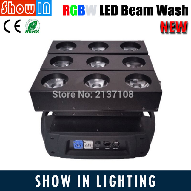 15W Unlimited RGBW LED Moving Head Light Beam Wash DMX DJ Disco Party Wedding Stage Lighting Equipment Projector Free Shipping