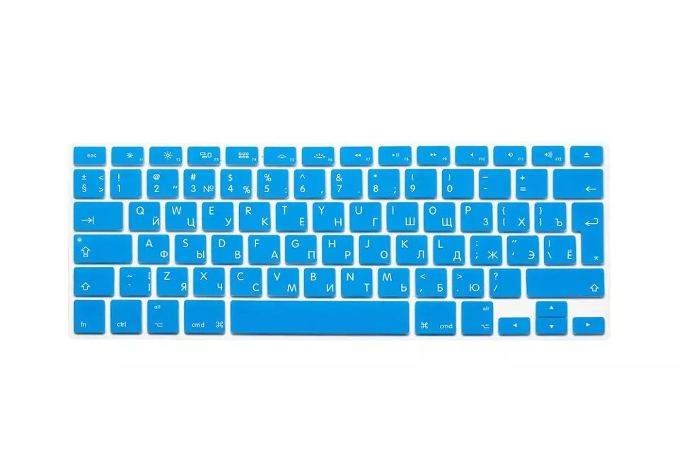 EU US Soft Silicon For Macbook A1466 Keyboard Cover Russian Language Cover For Macbook Retina13 Keyboard Cover (3)