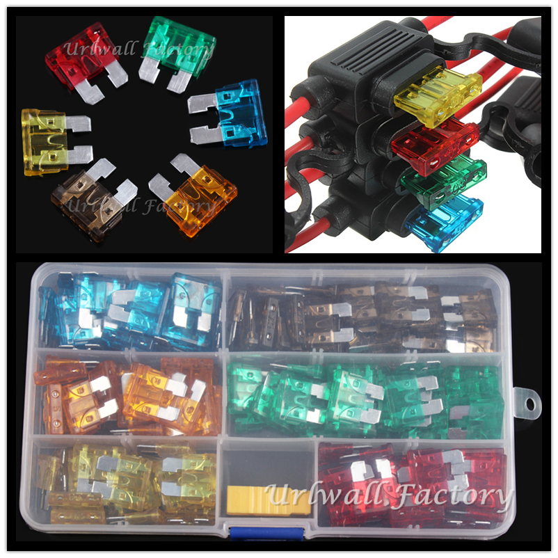 24 ASSORTED BLADE FUSES CAR AUTO WIRE CABLE FUSE TRUCK MOTORCYCLES