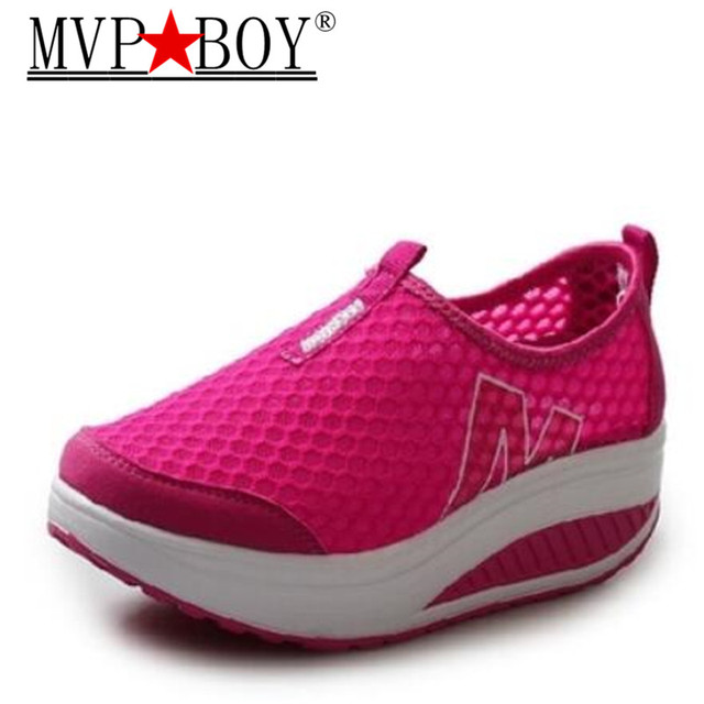 80bab7520c10 MVP BOY Summer Height Increasing Shoes Women s Causal Shoes Sport Fashion  Walking Shoes for Women Swing Wedges Shoes Breathable