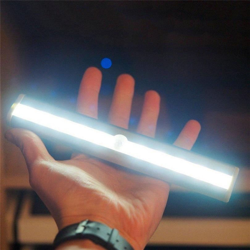 1pc LED Cabinet Closet Light PIR Motion Sensor Lamp Led Bulbs White Bright Under Cabinet Lights High Quality new #3J01 (3)