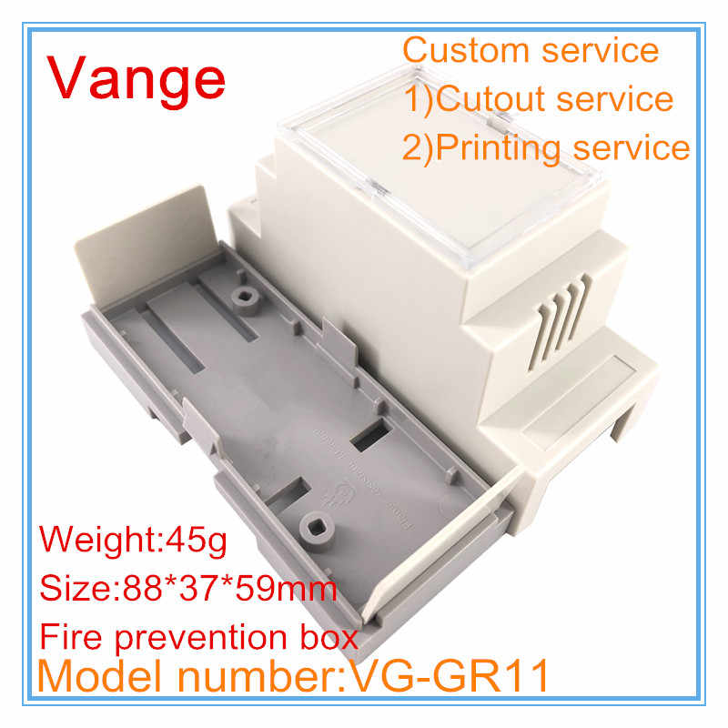 1 Pcs/lot Tahan Api Listrik Outlet Box 88*37*59 Mm ABS Plastik Alat Proyek Box DIY Lubang Ventilasi untuk DIN Rail Elektronik PCB