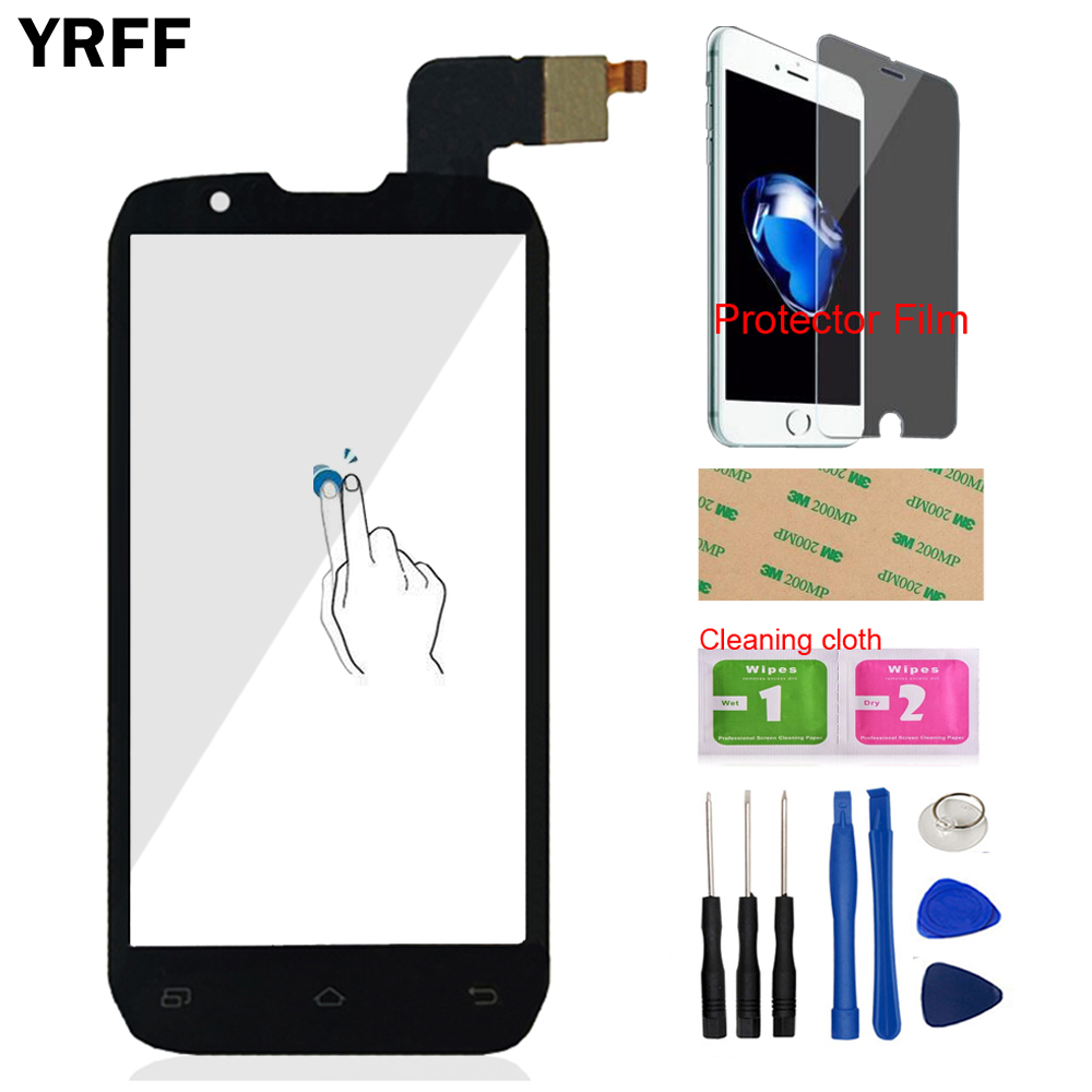 4.3'' Mobile Touch Panel Sensor Front Glass For <font><b>DNS</b></font> <font><b>S4502</b></font> Touch Screen Digitizer Panel Glass Tools Protector Film Adhesive image