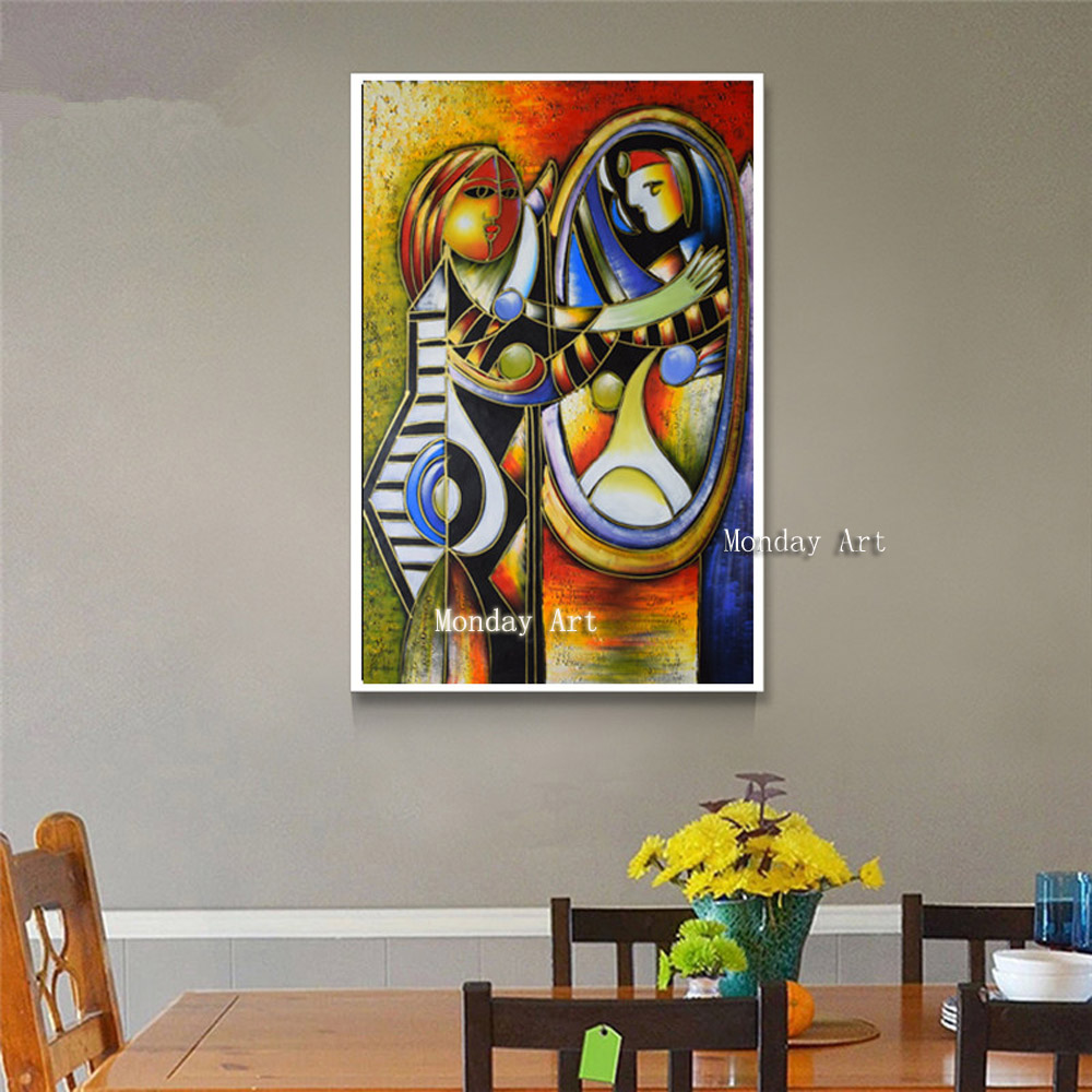 Professional aritist pure handmade Picasso Abstract Oil Paintings Home Decoration Canvas Painting Wall Pictures For Living
