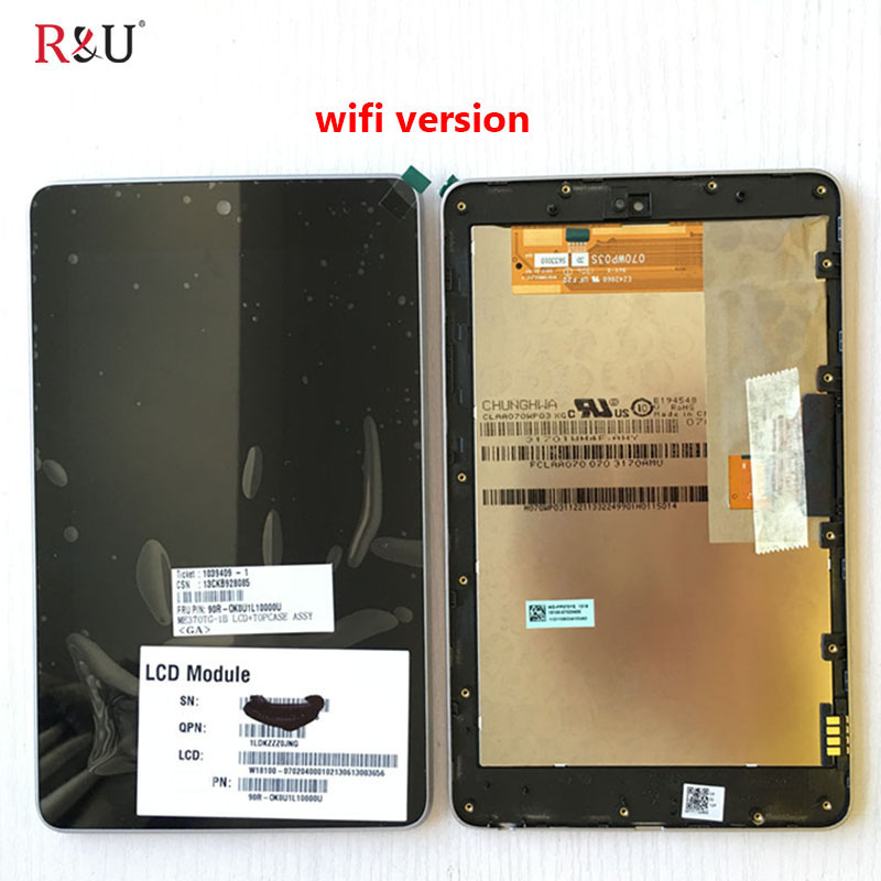 R&U lcd screen display with touch screen digitizer assembly with frame for ASUS Google Nexus 7 1st GEN 2012 ME370T ME370 ME370TG  high quality lcd display touch digitizer screen with frame for asus google nexus 7 nexus7 2012 me370tg nexus7c 3g version