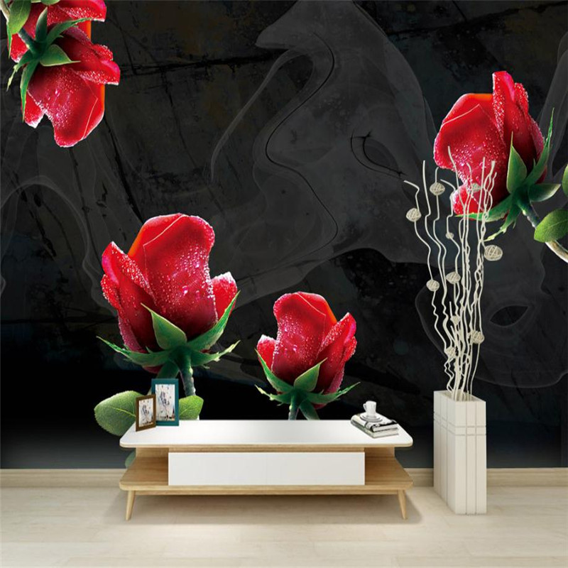 Black pink flower wallpaper custom 3 d photo wallpaper for walls black pink flower wallpaper custom 3 d photo wallpaper for walls desktop modern living room wall papers kitchen wall decor house in wallpapers from home mightylinksfo