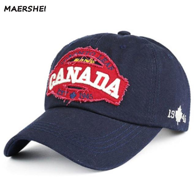 MAERSHEI algodón gorra de béisbol hombres Snapback Gorras Casquette Canadá bordado  hombres mujeres Hip hop Gorras 7d1927c69c2