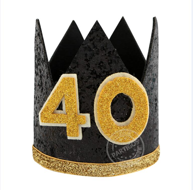 Happy Birthday Party Hats Decor Cap One Hat Princess Crown 18th 21st 30th Year Old Number Adult Hair Accessory In From Home Garden On