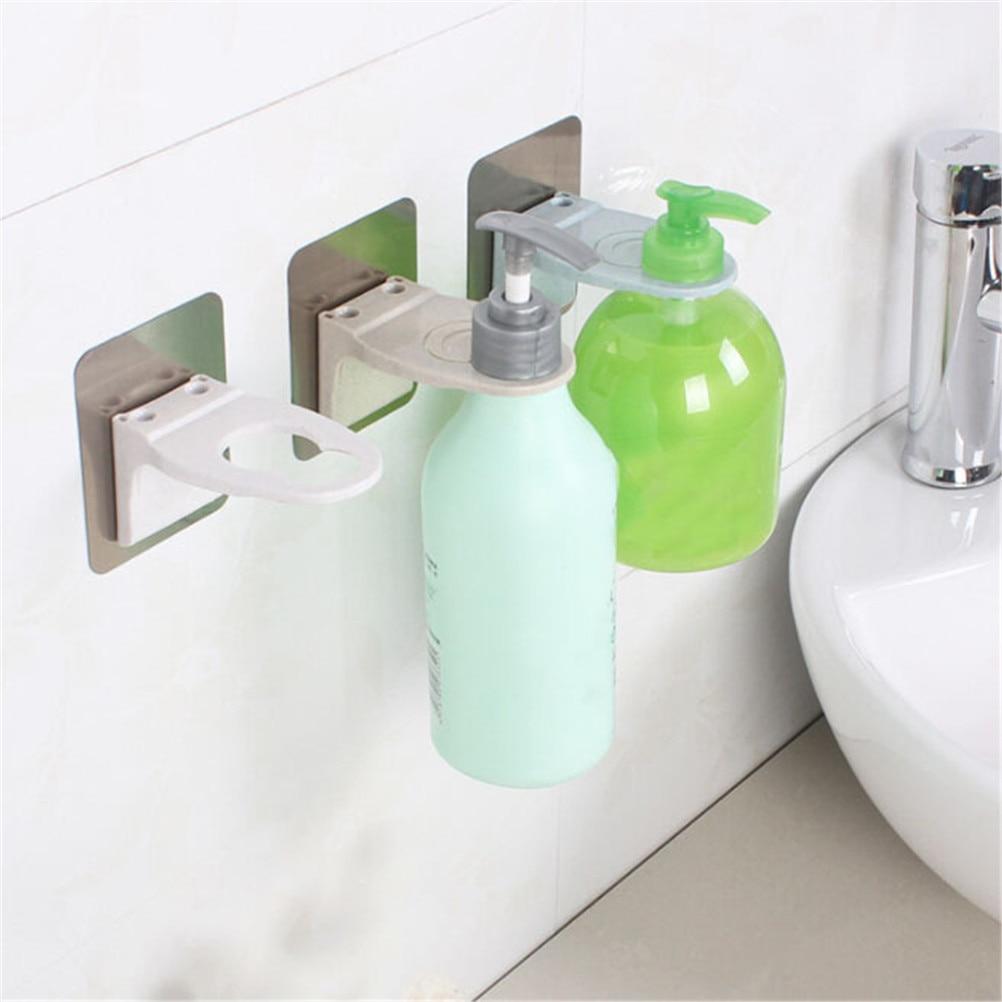 Wall Mounted Bathroom Hanger Magic Sticky Shampoo Hook
