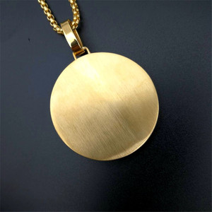 Image 5 - Hip Hop Iced Out Praying Hands Pendant Necklaces For Women And Men Gold Color Stainless Steel Round Jewelry Dropshipping
