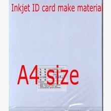 Пвх удостоверение личности материал для изготовления струйных ПВХ пустые листы, студенческие карты, членские карточки материал для изготовления A4 Размер Толщина 0,58 мм