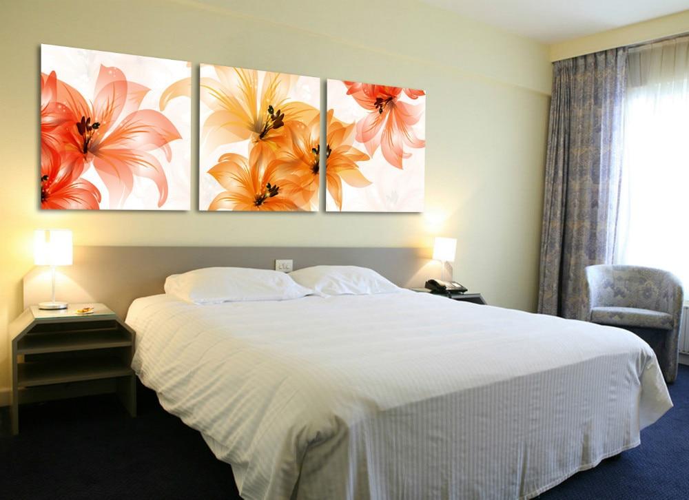 envo libre unidades de arte establece flor lienzos de pared cabecero dormitorio de pared