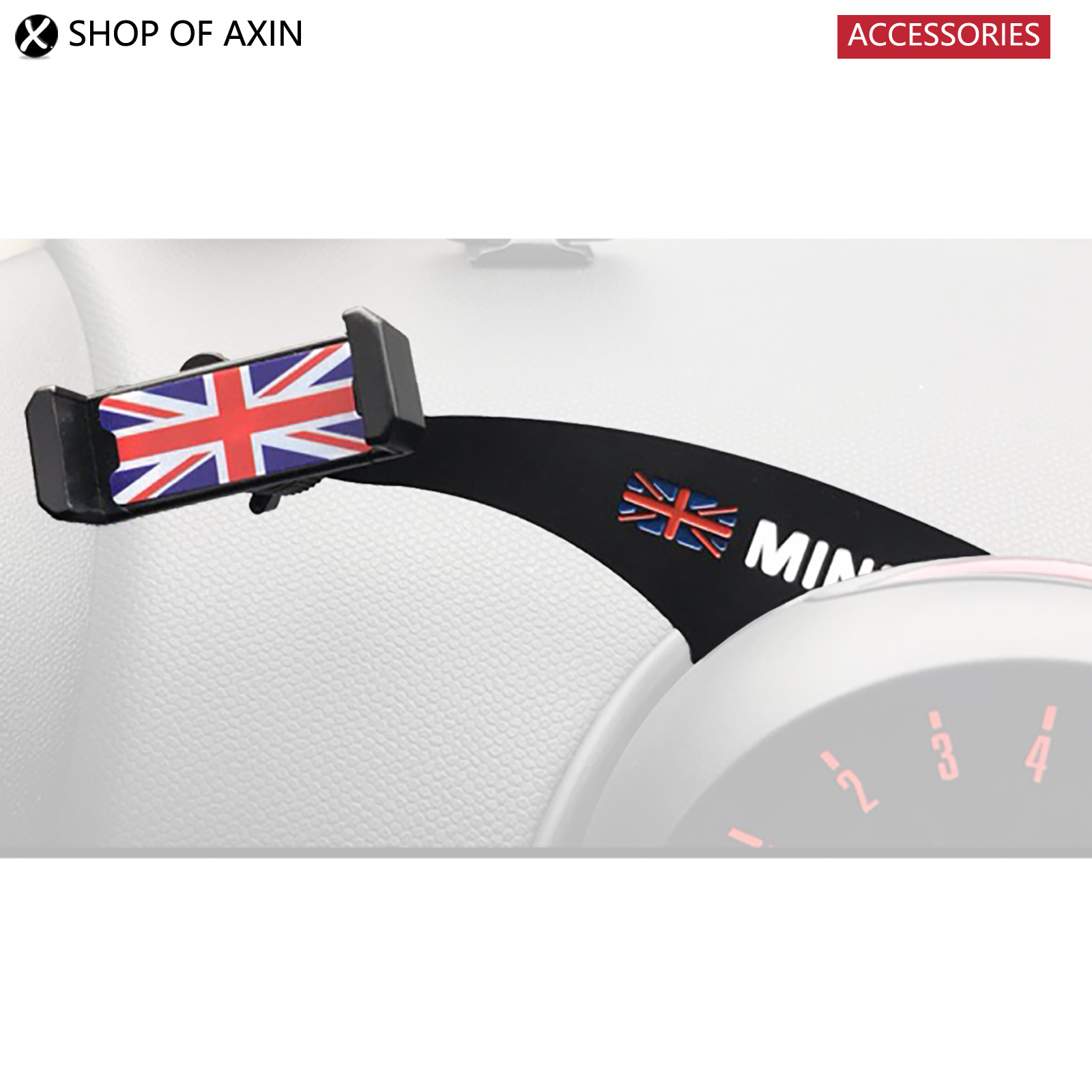 Mobile phones Holder Bracket Wide range of angle adjustment rotating For MINI cooper Countryman R55 R56 R60 R61 F54 F55 F56 F60 1pair union jack car side door skirt decal sticker decor for mini cooper f54 f55 f56 f60 r55 r56 r60 r61 car styling accessories