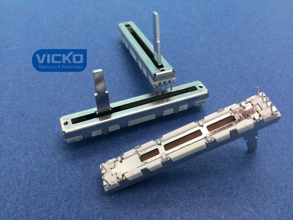 [VK]Japanese ALPS DJM600 DJM-600 Putter B10K 10KBX2 60MM Slide switches Volume Fader with Resistance унитаз чаша roca gap clean rim 34273700h