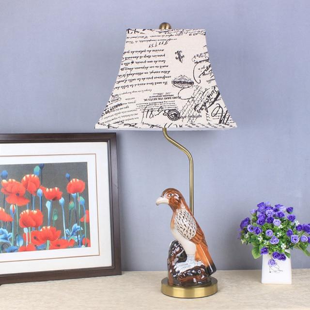 TUDA 35X71cm Free Shipping LED Ceramic Table Lamps Fashion Creative Ceramic  Bird Statue Table Lamp Home