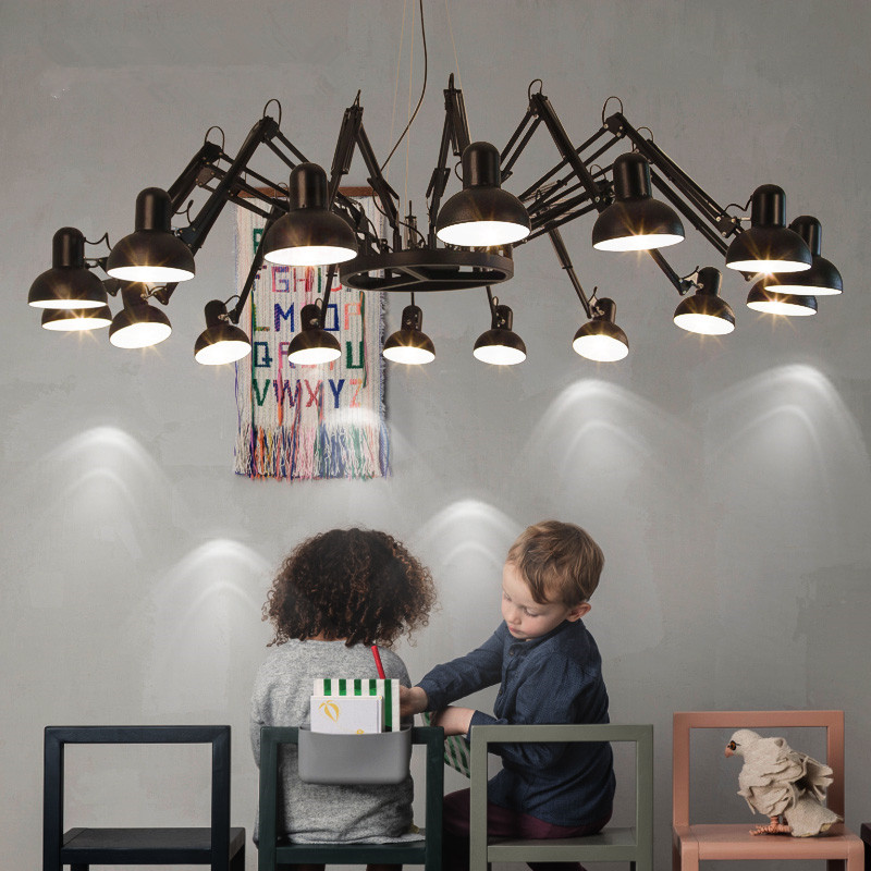 Modern Flexible Spider Pendant Light Robotic Arms Pendant Lamp