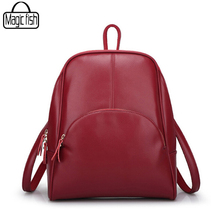 2017 Classical Design PU Leather Backpack Fashion Women Backpacks Casual Popular High Valued Quality Travel Backpacks C0213/l