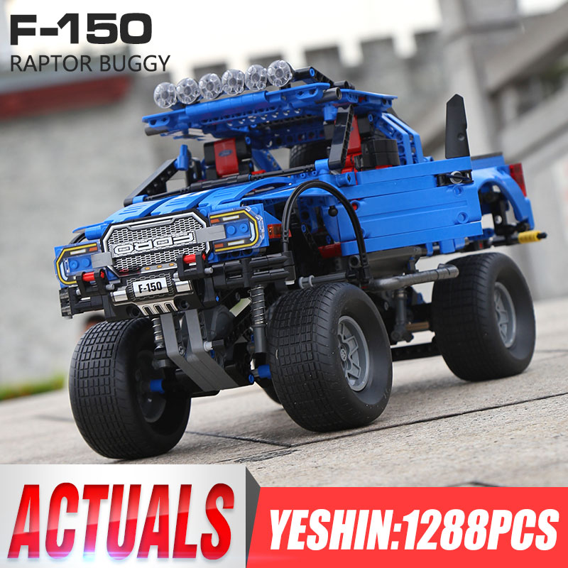 Yeshin 701970 Compatible with 20056 Technic Cars the F 150 Raptor Pickup Car Model building blocks