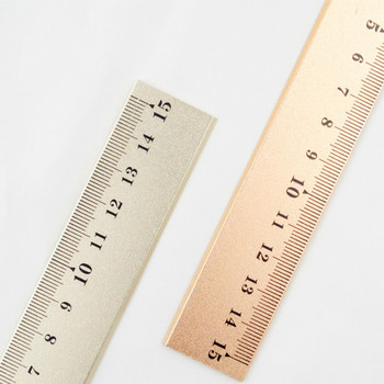 Straight Ruler Rose Gold Silver Measurement Regua Patchwork Stationery Metal Tools For To Draw Kids