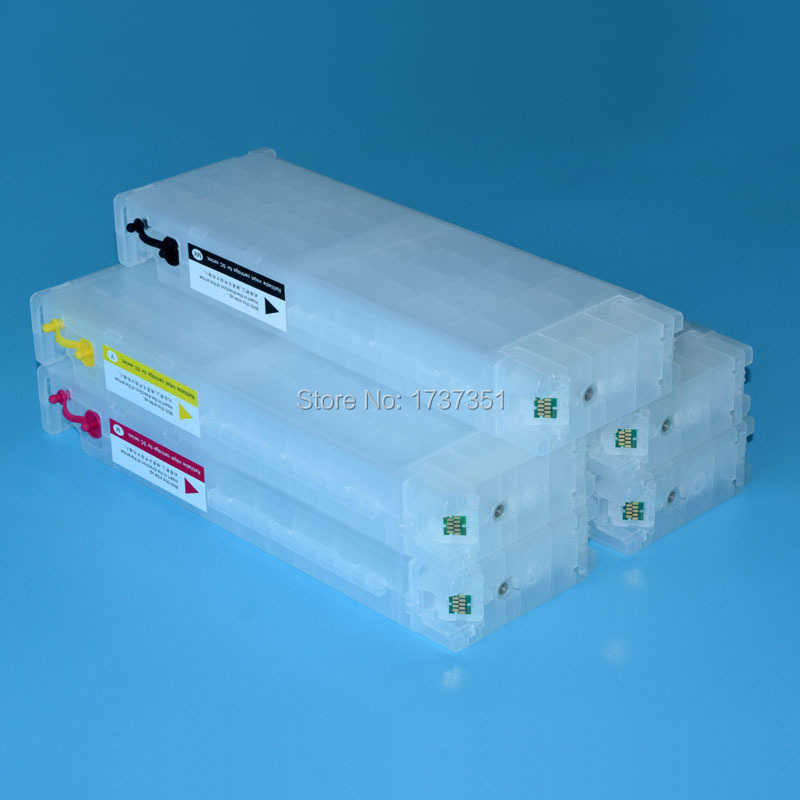 700ml 5 color refillable ink cartridge with one time chip for Epson SureColor T7270 printer t2971 one time chip for epson t2971 t2962 t2964 refillable ink cartridge for epson xp 231 xp231 xp 431 printer cartridge chips