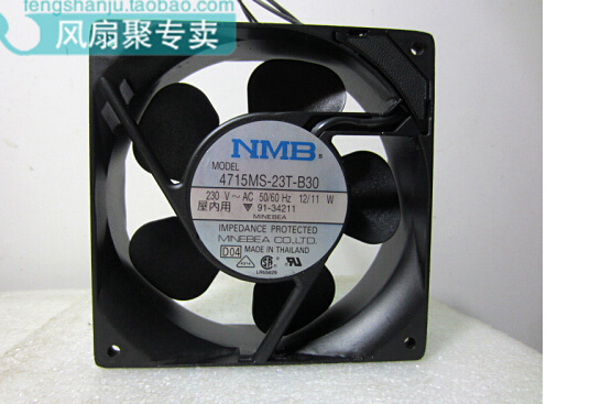 New original NMB 4715MS-23T-B30 230V 12/11W 12038 120*120*38 mm aluminum frame of AC silent fan new and original 12cm 4715kl 04w b50 12038 1 3a double row ball bearing cooling fan for nmb 120 120 38mm