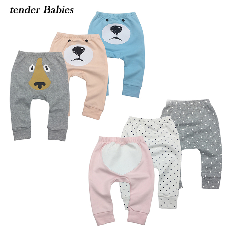 Cartoon baby Boy Girl Pants Newborn Baby girl Pants boy summer clothes Cotton Dog Trousers Cute Infant New Boys fox Harem Pants emmababy toddler infant baby girl boy pants wrinkled cotton vintage bloomers trousers legging pants boby clothing