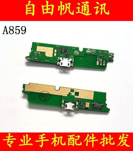 PCB board for Lenovo a859 Micro dock plug charger connector with microphone signal antenna connector Original quality test ok